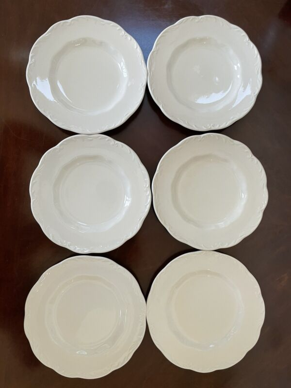 """Set of 6 J & G Meakin Sterling Colonial English Ironstone Side Plates 6-3/4"""""""
