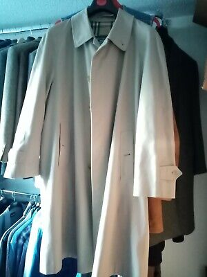 """Burberry raincoat, beige, pit to pit 25"""". length 44"""""""
