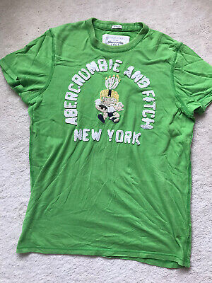 abercrombie and fitch Mens T Shirt Large Size Muscle Fit Green Cotton