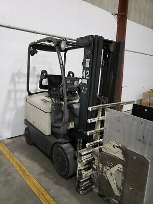 8 Available Electric Forklift 2002 Crown Fc4020 With Clamp
