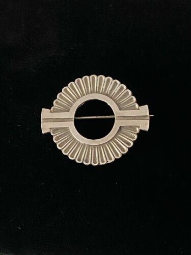 Vtg GEORG JENSEN DENMARK Art Deco Sterling Silver Circle Pin Brooch #310