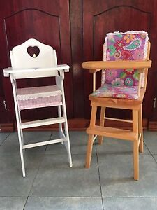 Doll wooden highchairs