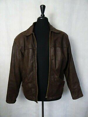 Men's Vintage Leather 1980's Bikers Jacket 42R (M)
