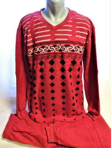 New !!! Herren Frottee Schlafanzug Pyjama Langarm Gr. M-3XL / 6 Farben / J & M