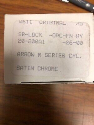 Medeco Cylinder 20-200a1 - 26 -00 For Arrow M Series Knob Locks - New-2 Keys