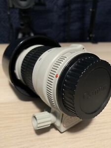 Canon 70-200 L f4.0 (non IS) with hood and B&W UV filter.