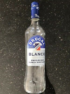 EMPTY Brugal Blanco Rum Bottle Dominican Republic 700 ml Desde 1888