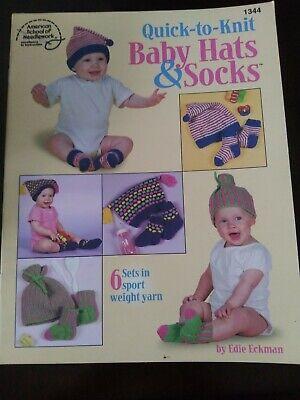 Knitting Pattern Book QUICK TO KNIT BABY Hats & SOCKS Knitting Baby Socks