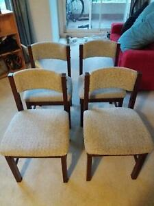 Dining chairs (x4) Braddon North Canberra Preview