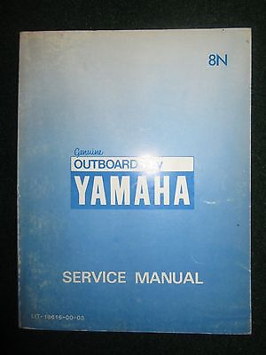 1984 Yamaha Marine Outboard Service Repair Shop Manual 8N 8 HP DEALER