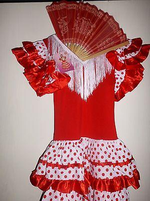 NEU SPANISCHE TÄNZERIN Original aus Spanien Kostüm Kleid Alter ca. 10-12 J.  ()