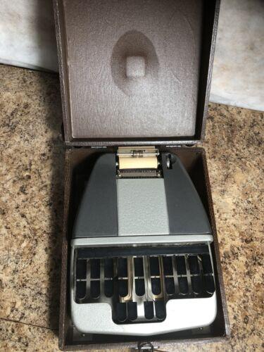 Vtg La Salle Stenotype W/ Hard Case Stenographer Court Reporter Machine Printer  - $80.00