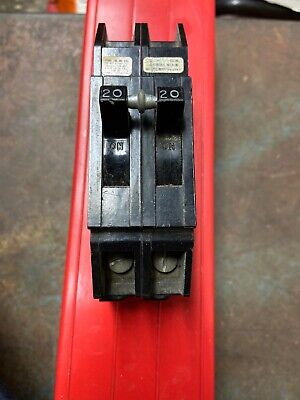 Zinsco 20 Amp 2 Pole 20a 2p 2020 Full Size Thick Circuit Breaker