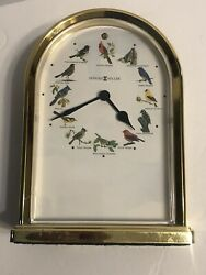 Howard Miller Desk/Table Quartz Clock Songbirds of North America Tested Works(BF