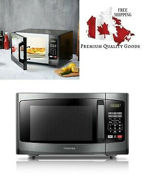 Toshiba EM925A5A-BS Microwave Oven, 0.9 Cu.ft, Black Stainless Steel