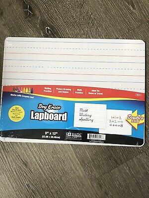 Dry Erase Board Double Sided Works With Markers And Crayons 9x12