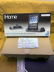 Ihome Portable Rechargeable Stereo Speaker System I D8 Factory Sealed 2011