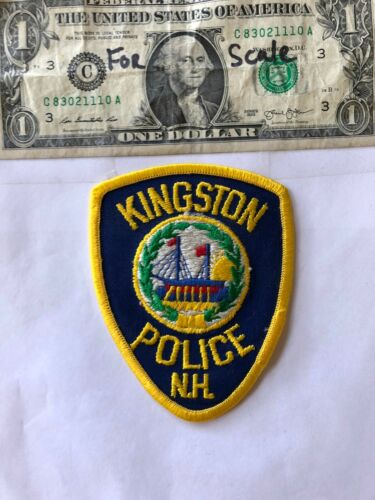 Kingston New Hampshire Police Patch un-sewn in great shape