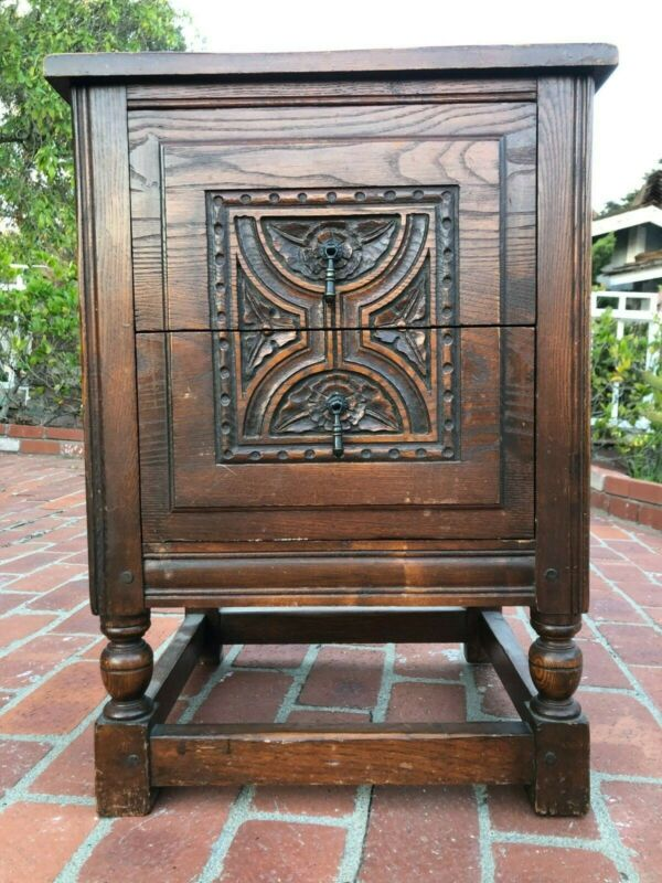 Antique Night Stand with two jumbo drawers