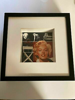K) Marilyn Monroe Bombshell Director's Chair Movie Star Framed Wall Shadowbox