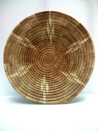 "Antique AFRICAN Basket Bowl~15"" x 3"" deep~EXCELLENT CONDITION~1950s"
