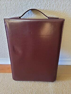 Brown Vintage Bonded Leather Legal-sized Ring Binder Zip Organizer W Xtras
