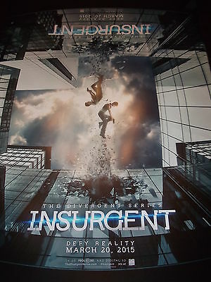 INSURGENT new rare 21 x 14 promotional movie poster DIVERGENT Shailene Woodley