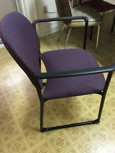 Waiting room/ office chair with armrests.