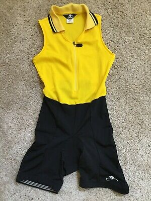 Bellwether Yellow/Black Cycling Singlet Style #11332-Women's Size Medium