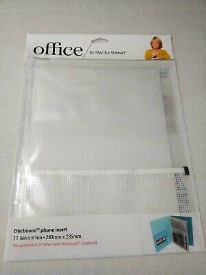 Office By Martha Stewart Discbound Phone Insert Zip Pocket 11 18 X 9 14
