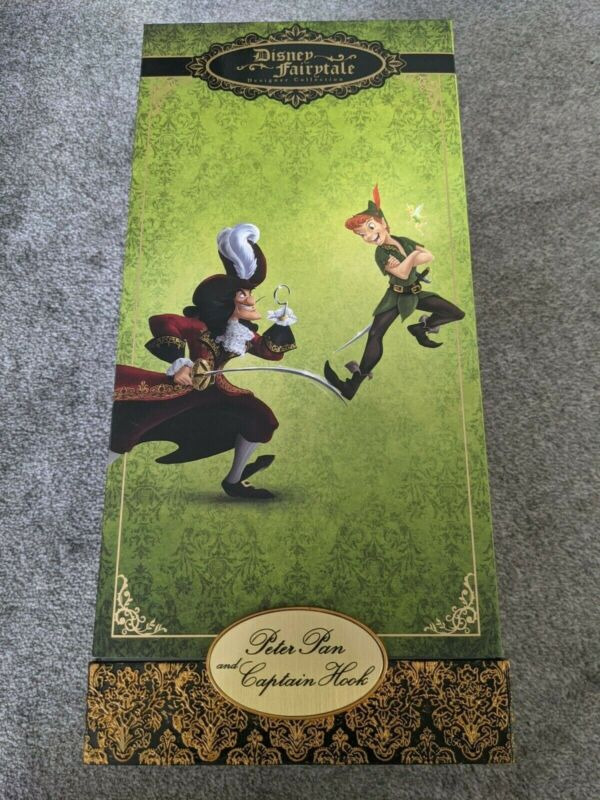 Disney Limited edition Designer doll Peter Pan and Hook, NEW
