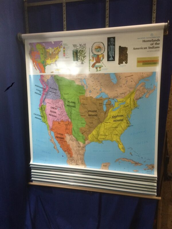 Rand McNally American History Series Markable Map Set of United States 8 maps