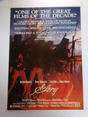 GLORY Original THEATER-USED Movie Poster 27x40 Rolled One Sheet SS - C4
