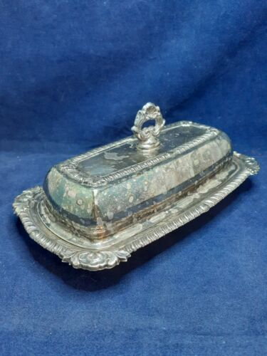 Vintage H. S. Silver on Copper Butter Dish