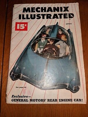 VINTAGE April 1949 MECHANIX ILLUSTRATED MAGAZINE ARMY Advertising and more