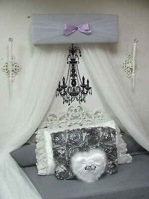 Shabby Chic Crib Canopy NuRsErY Bed Jurisdiction Teester BEDROOM Cornice VALANCE SALE
