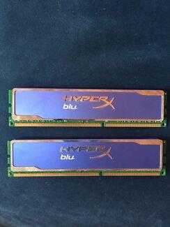 NEW16gb Kit DDR3 Kingston Hyperx blu. RAM 2x8gb