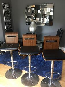3 Modern Bar & Counter Height Hydraulic Swivel Stools $200 OBO!