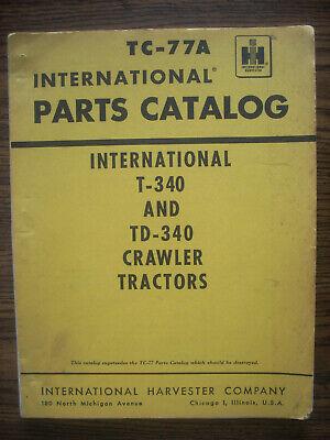 Ih Farmall Mccormick International T340 Td340 Crawler Parts Manual