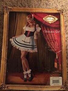 Octoberfest Beer Girl Costume Size L