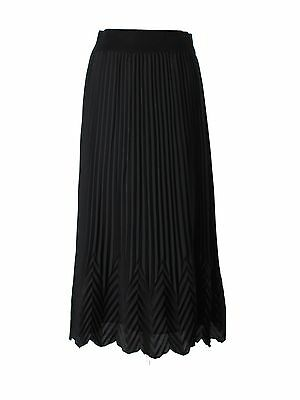 Women Missoni For Target Solid Black Chevron Long Maxi Skirt Size M (Target Long Skirts)