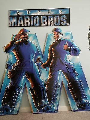 SUPER MARIO BROTHERS MOVIE (1993): POSTER CUTOUT, DVD, TRADING CARDS AND VHS](Super Mario Cutouts)