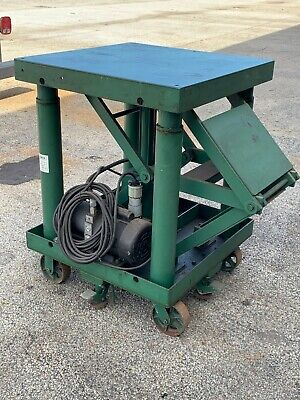 Lexco 3000lb Hydraulic Rolling Lift Table With Electric Up And Down - Item 1152