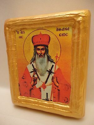 Saint Athanasius Agios Athanasios Byzantine Greek Eastern Orthodox Art Icon