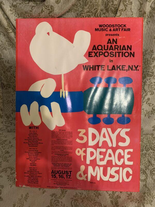Woodstock Original Vintage 1969 Poster 18x24