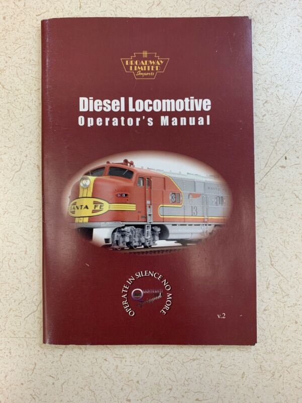 58 Pages Diesel Locomotive Operators Manual Volume Two Booklet (K3-3)