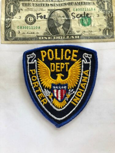 Old Porter Indiana Police Patch Un-sewn great shape