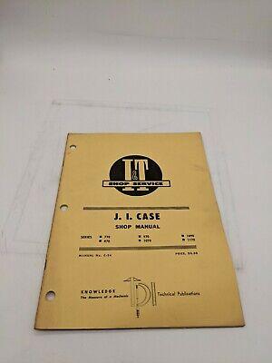 I T Tractor Shop Service Repair Manual Ji Case C-24 770 870 970 1070 1090 1170