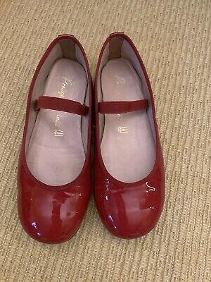 Mint! $139 EUC Pretty Ballerinas Red Patent Size 31 /US13