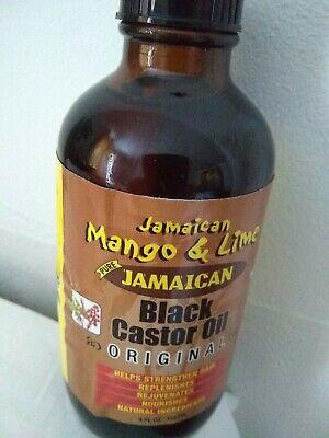 Jamaican Mango & Lime Black Castor Oil Original 4oz/118ml   pure  natural...